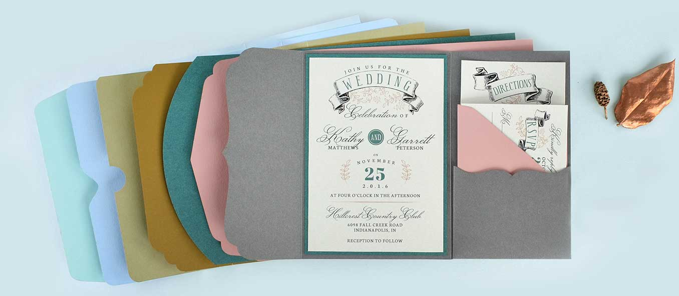 Custom Pocket Shapes Laser Cut Pocket Invitations