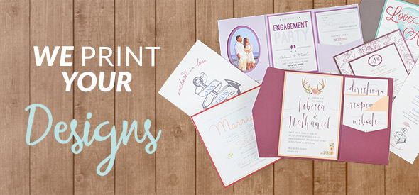 Print Your Own Designs You Upload We Print Cards Pockets
