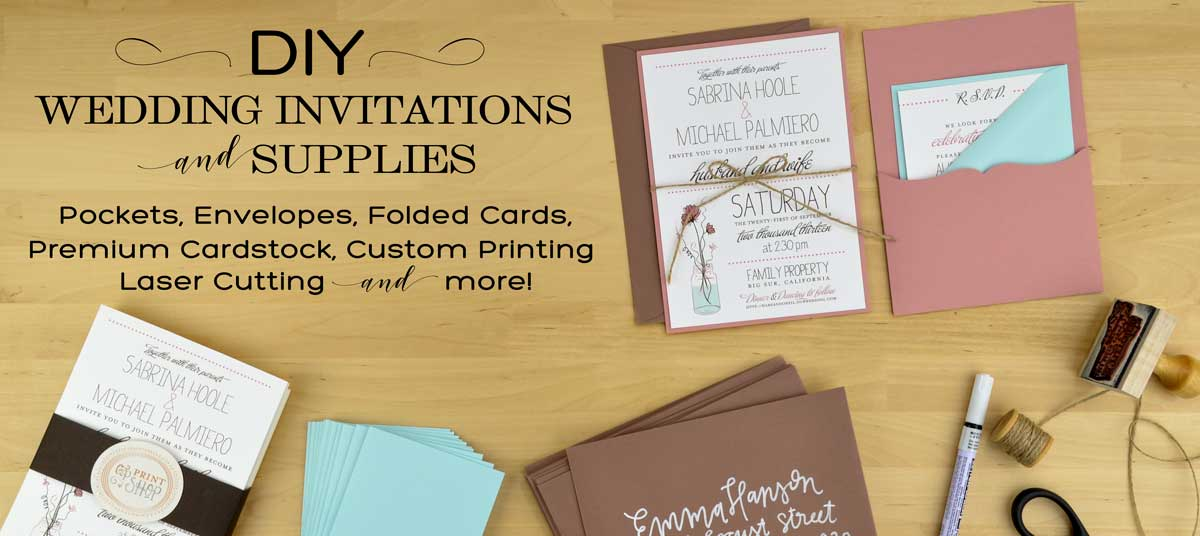 Photo Pocket Wedding Invitations: DIY Wedding Invitation Supplies