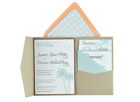 beachy free wedding invitation 5x7 template suite