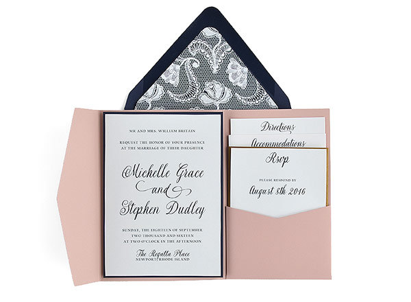Customizable Wedding Invitation Templates: Lace- Free Wedding Invitation 5x7 Template Suite