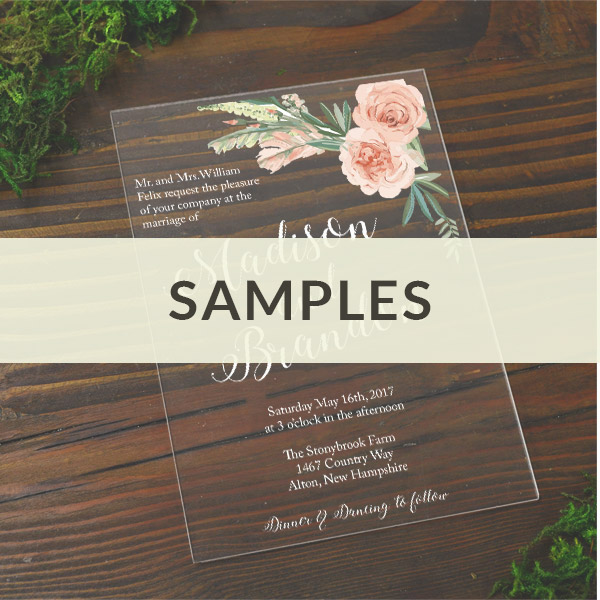 diy plexiglass invitations