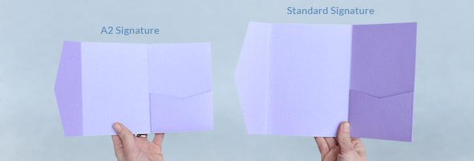 A2 Signature Pocket Size Comparison