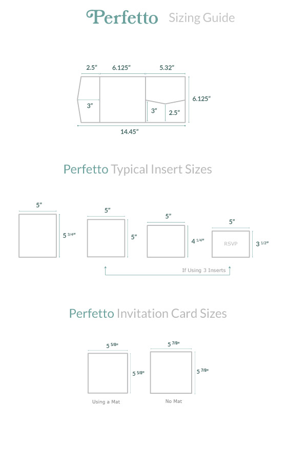invitation size guide perfetto pocket cards pockets