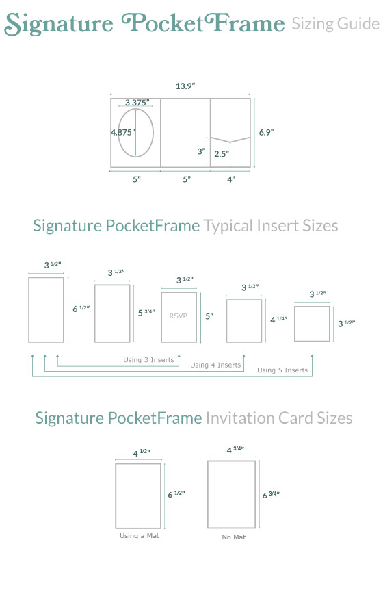 Invitation Size Guide | 5x7 PocketFrame - Cards & Pockets