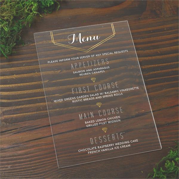 acrylic menus price
