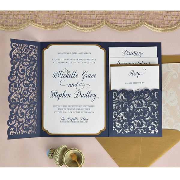 laser pocket invitation cards pockets