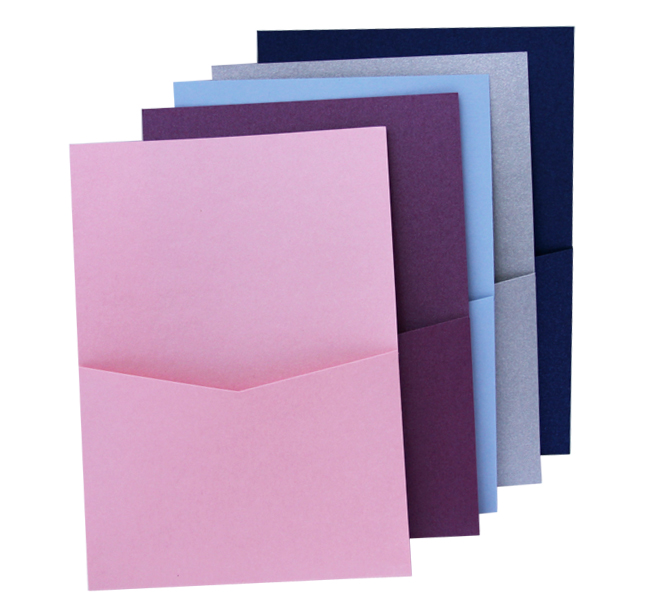 pocket invitation 5x7 panel pocket cards pockets