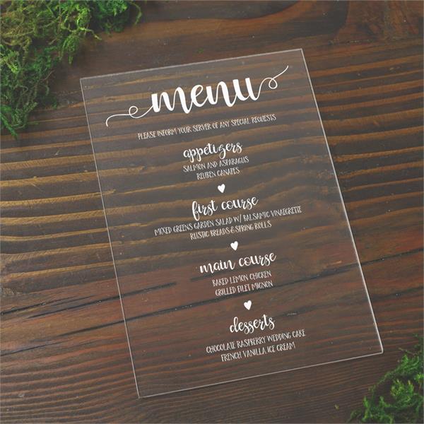 Color Acrylic menus