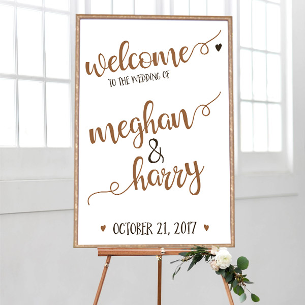 Welcome Sign Wedding  Printable Welcome Wedding Sign  Beach Wedding Sign  Tropical Wedding Ceremony Sign  Personalized Welcome Sign