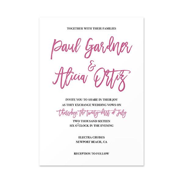 Simply Elegant Invitation Card 4 5 X 6