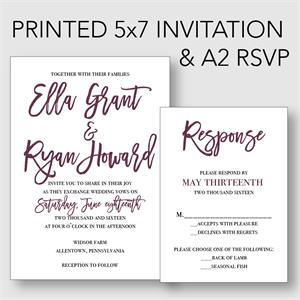 printing for your 5x7 invitation rsvp template