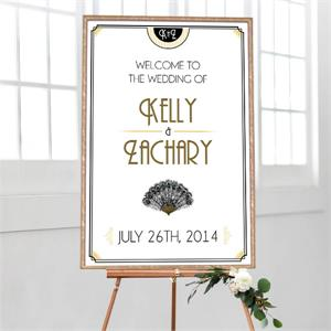 Wedding Welcome Art Deco