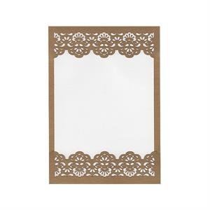 Baroque Top and Bottom Invitation Slide-in Card