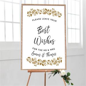 Best Wishes Botanical Border