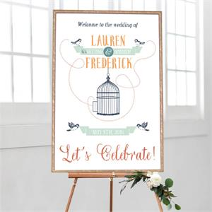 Wedding Welcome Bird Cage