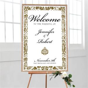 Wedding Welcome Damask