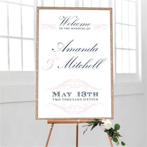 Wedding Welcome Elegant Swirls