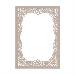 Flower Bouquet Laser Invitation Frame