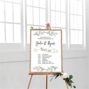 Cards And Pockets Wedding Timeline Fresh Citrus