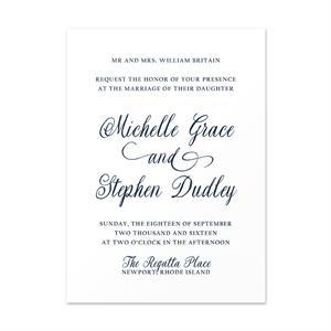 lace invitation card 5 x7
