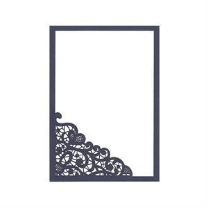 lace invitation slide in card