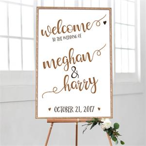 Wedding Welcome Rustic