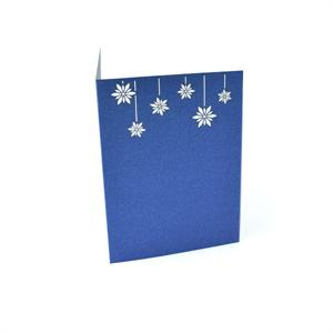 Snow Flakes Laser Folded Card