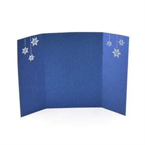 Snow Flakes Laser Gate Card