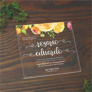 square acrylic 6.25 x 6.25 Invitation