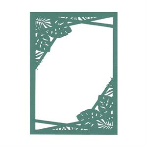 Tropical Laser Invitation Frame