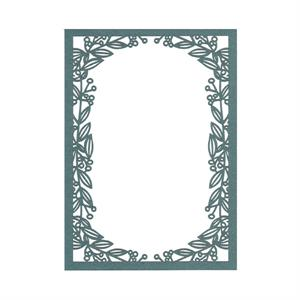 Vines Laser Invitation Frame