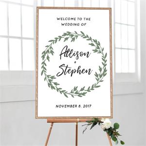 Wedding Welcome Greenery Wreath