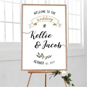 Wedding Welcome Ribbon Banner
