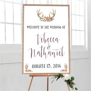 Wedding Welcome Woodland Watercolor