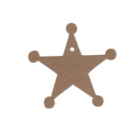 Sheriff Star Shape Pack