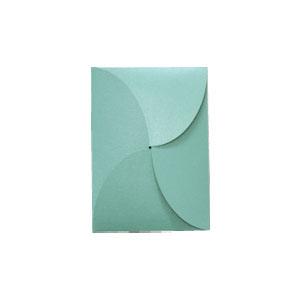 Petal fold 6x6 invitation template.