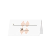 ARGYLE - Blank Folded Place Cards