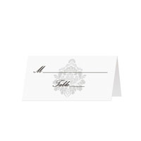 Classic Damask - Blank Folded Place Cards