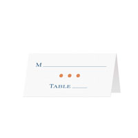 DOTTY - Blank Folded Place Cards