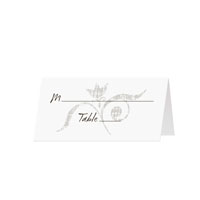 GRUNGE SWIRL - Blank Folded Place Cards