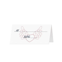 HEARTS AND FLOWERS- Blank Folded Place Cards