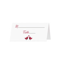 LOVE BIRDS - Blank Folded Place Cards