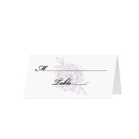 ORNATE FLOWERS - Blank Folded Place Cards