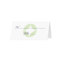 RETRO - Blank Folded Place Cards