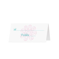 SCRIBBLE FLORAL - Blank Folded Place Cards