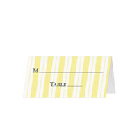 VERTICAL STRIPES - Blank Folded Place Cards