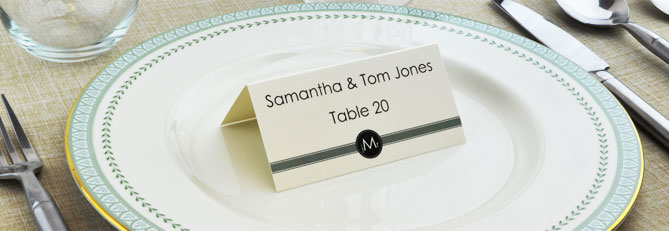 place cards - Printed Place Cards