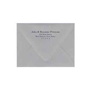 Return Address Black Ink Printed A2 Euro Flap Envelopes