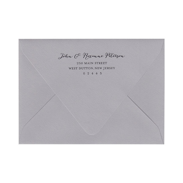 Return Address Black Ink Printed A7 Euro Flap Envelopes